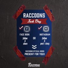 【RACCOONS JACK DAY】